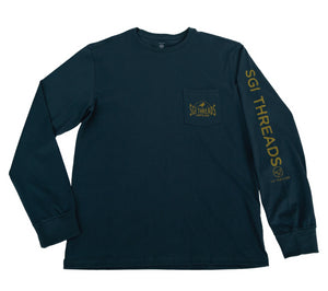 COASTAL MADE LONG-SLEEVE TEE DEEP GREEN