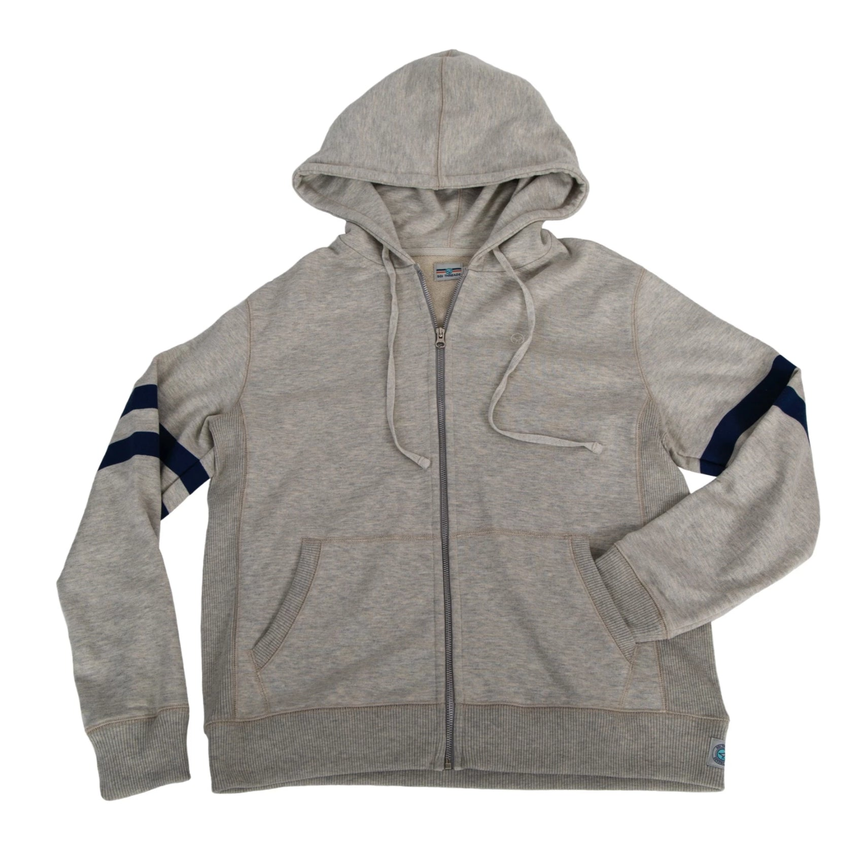 R&R ZIP HOODIE  HEATHER GREY