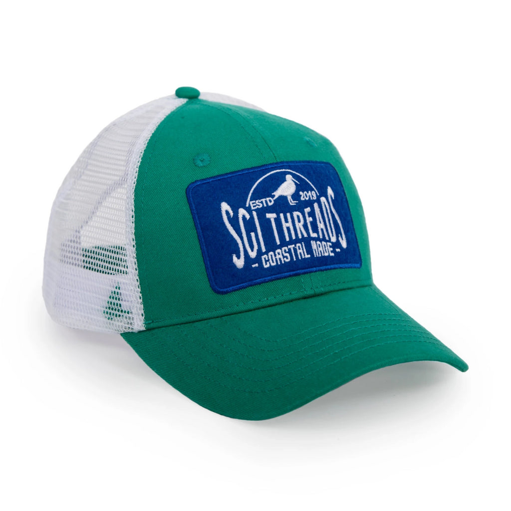 10-4 TRUCKER HAT KELLY GREEN/BLUE