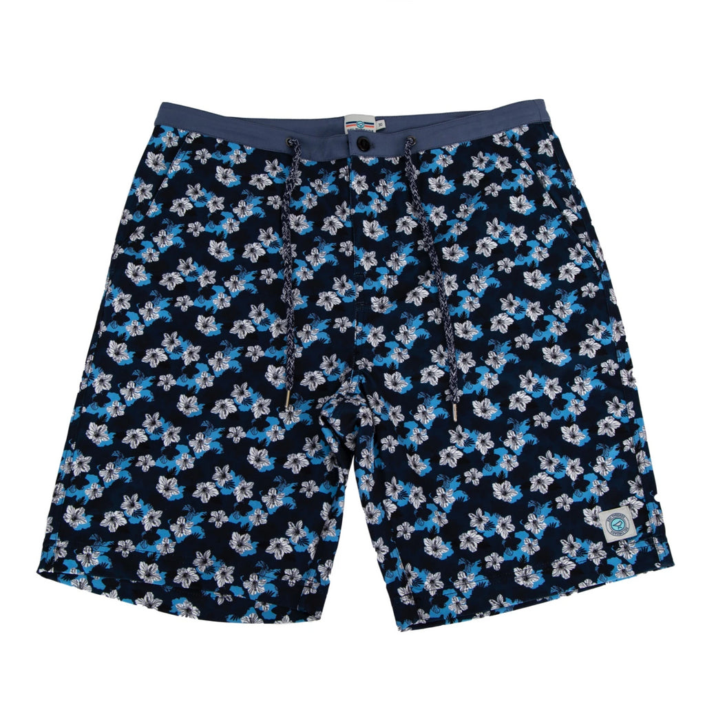 NEVER-BORED BOARDSHORTS WHITE FLOWER POWER