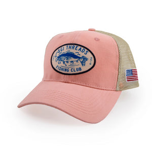 FISHING CLUB TRUCKER HAT PINK