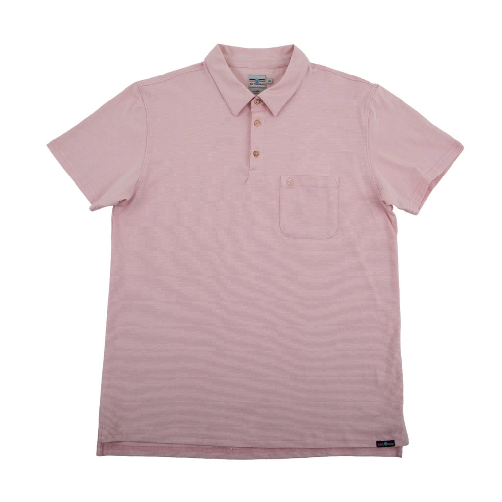 THE BEST-EVER POLO PINK/WHITE STRIPED