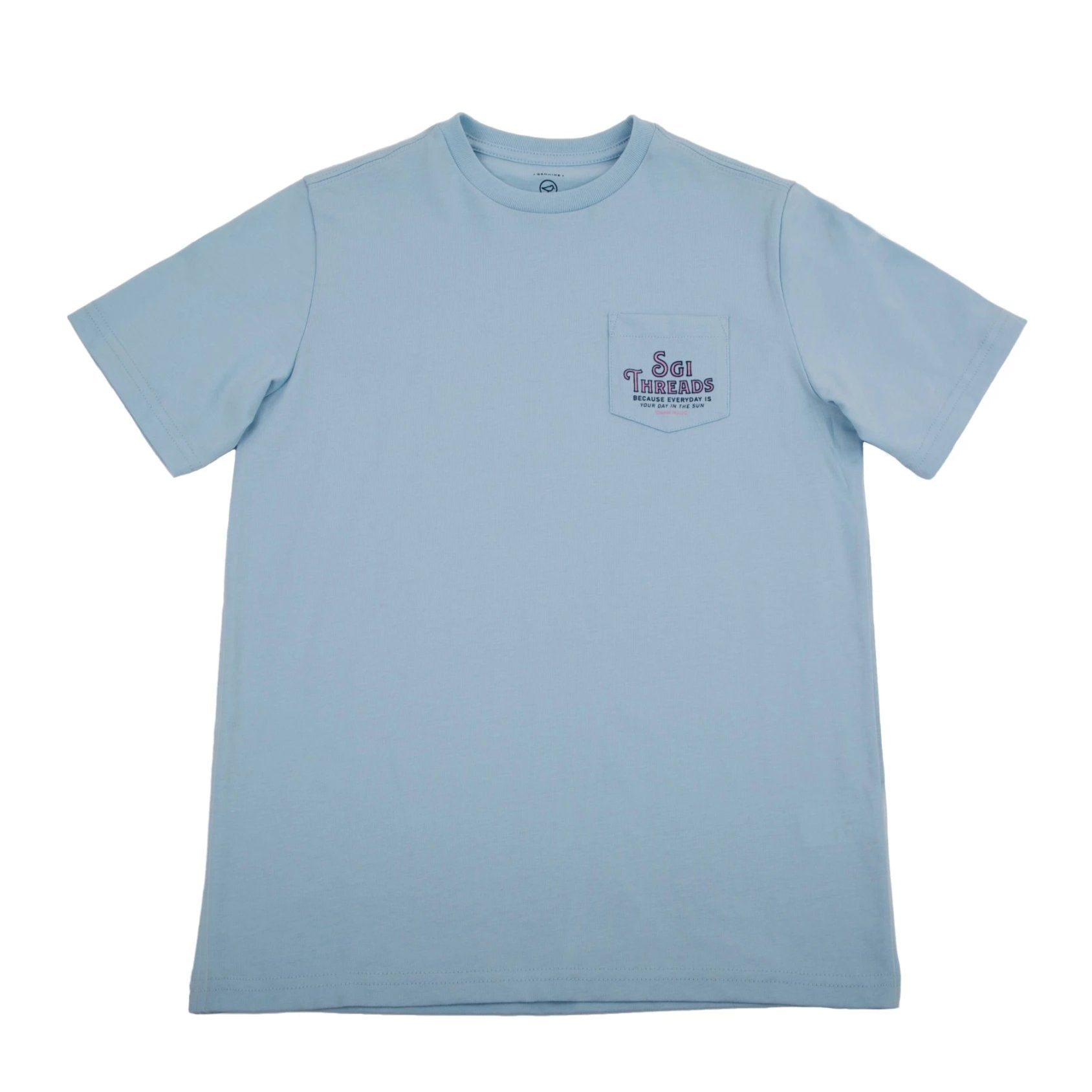 KIDS' ISLAND LIFE TEE LIGHT BLUE