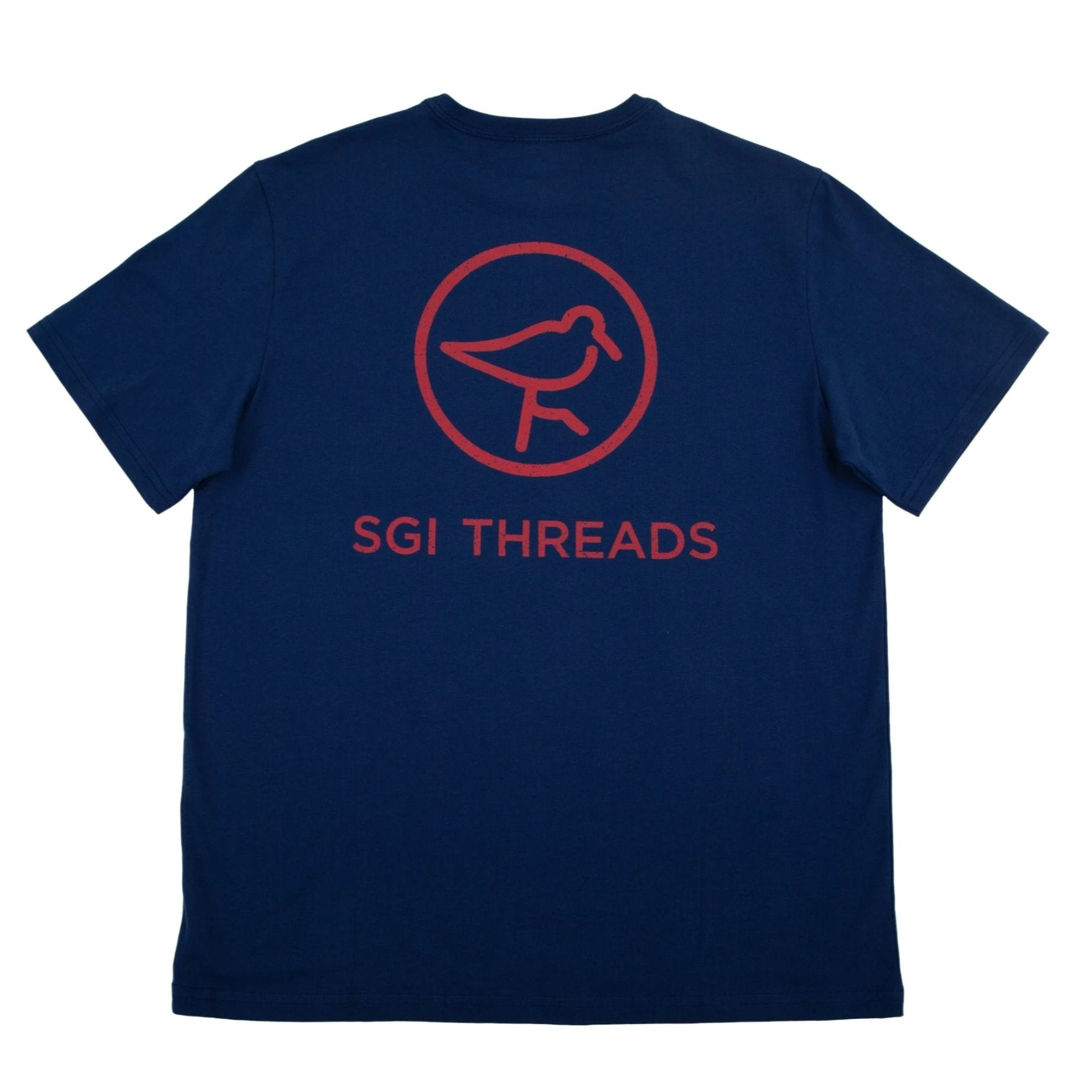 DISTRESSED SGI THREADS SHORT-SLEEVE TEE NAVY/RED