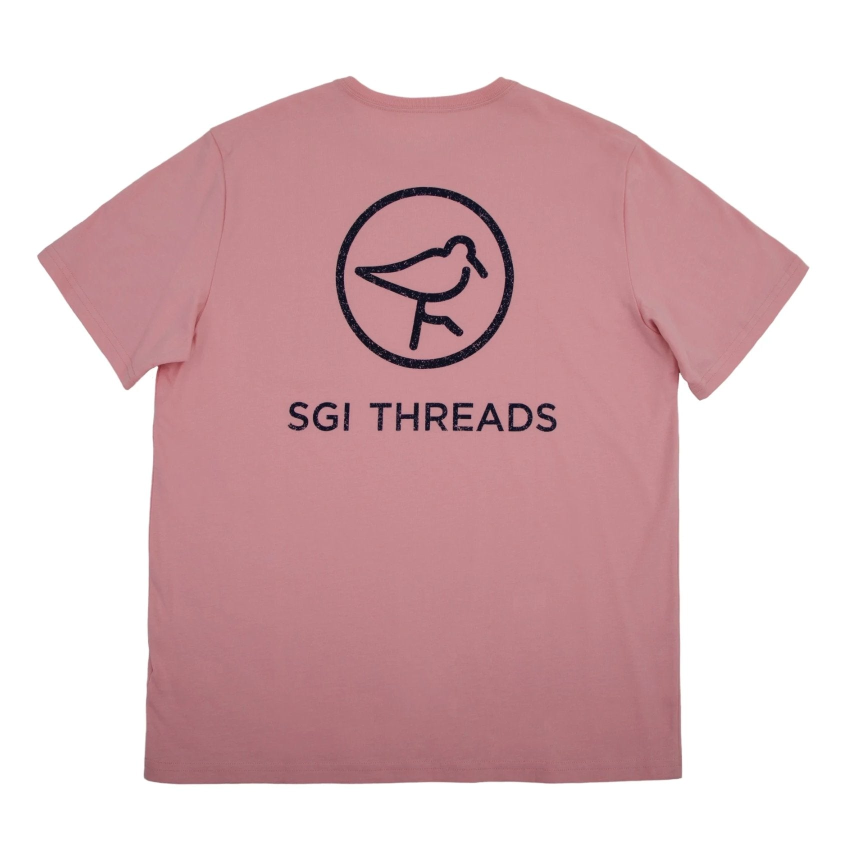 DISTRESSED SGI THREADS SHORT-SLEEVE TEE PINK/NAVY