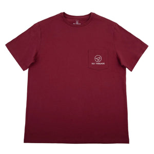 DISTRESSED SGI THREADS SHORT-SLEEVE TEE GARNET/WHITE