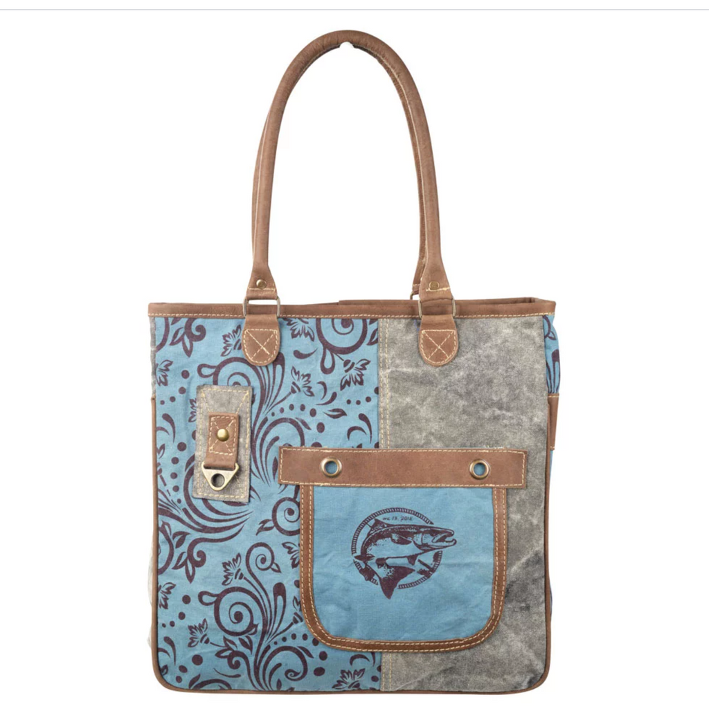 RAE'S B&B FISH CANVAS TOTE