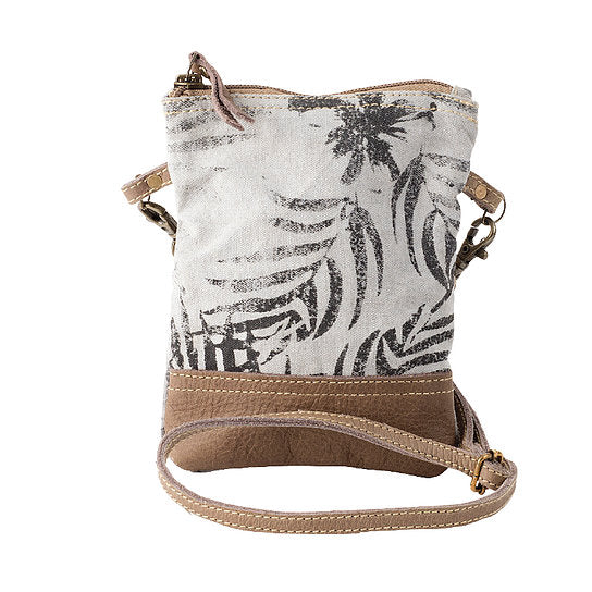 RAE'S PALM PRINT PASSPORT BAG
