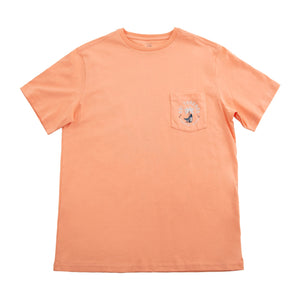COASTAL SURF SHORT-SLEEVE TEE PEACH