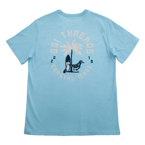 COASTAL SURF SHORT-SLEEVE TEE SURF BLUE