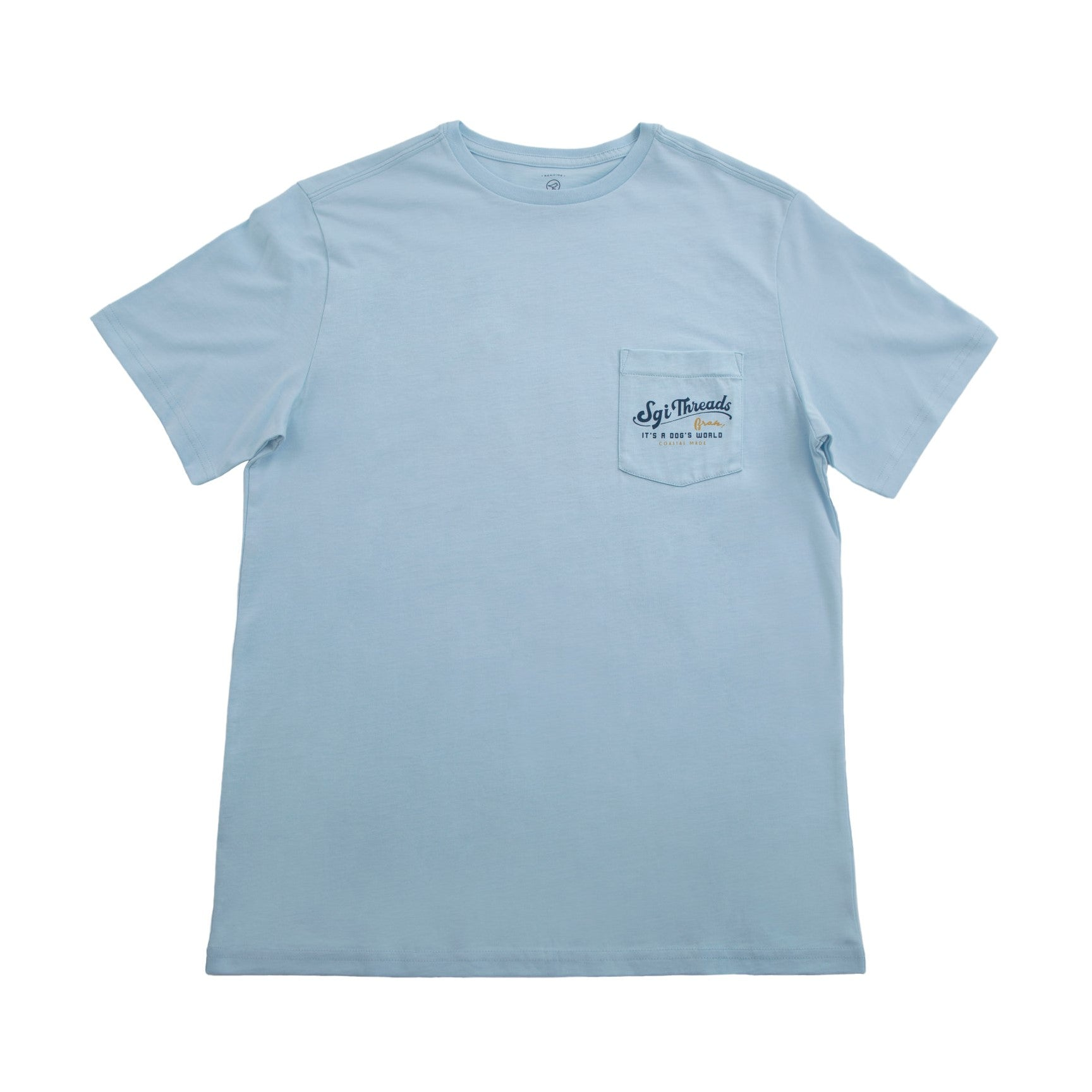DOGS WORLD SHORT-SLEEVE TEE LIGHT BLUE