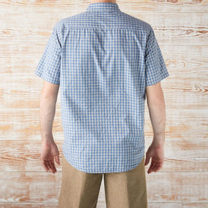 BUTTON-DOWN-FOR-ANYTHING GINGHAM SHORT-SLEEVE SHIRT