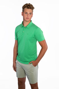 EVERYWHERE SAND TECH POLO BLUE/GREEN MICORSTRIPES