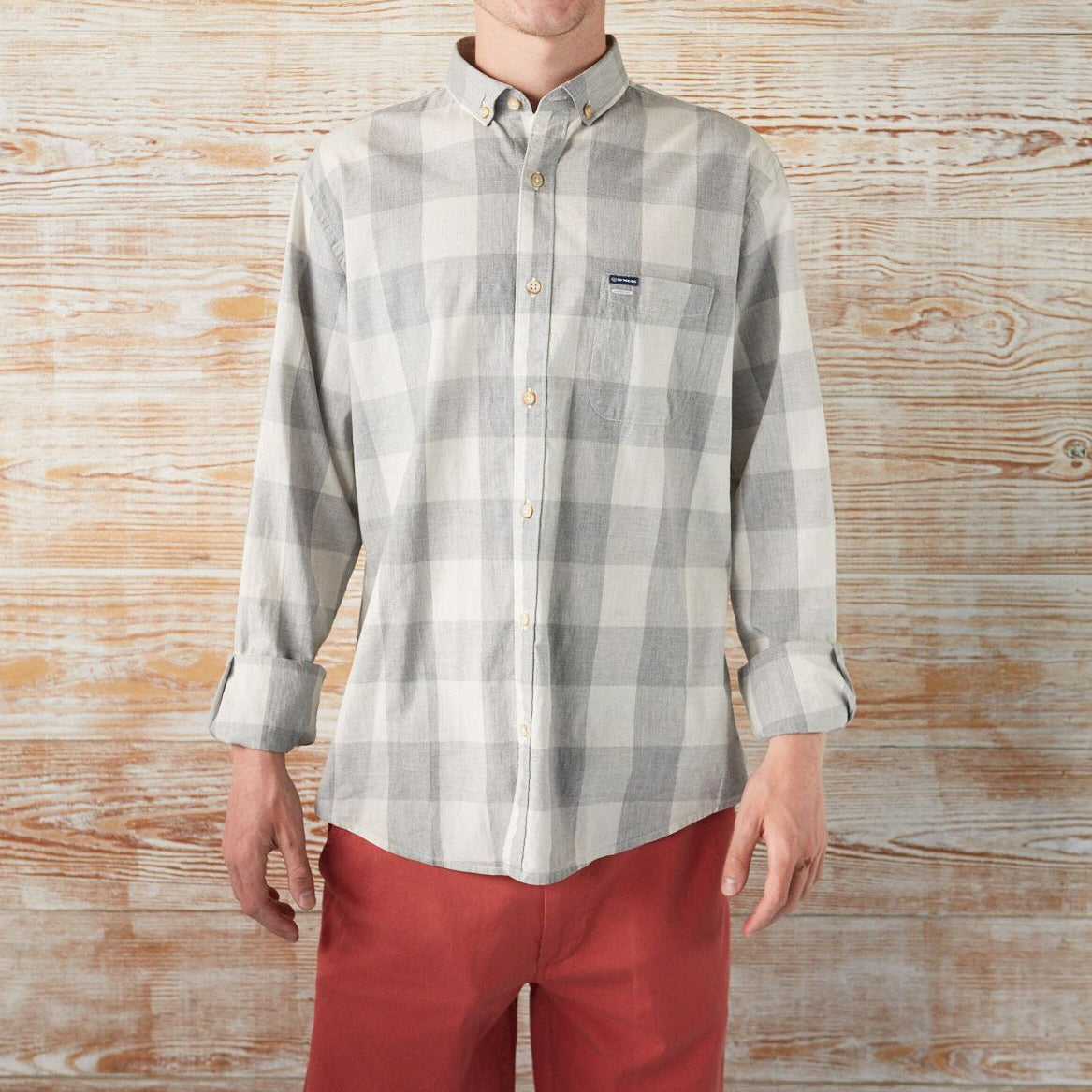 BUTTON-DOWN-FOR-ANYTHING BUFFALO CHECK LONG-SLEEVE SHIRT