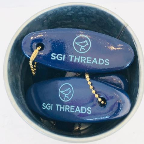 SGI THREADS BOAT-FLOAT KEY CHAIN