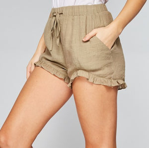 LACY'S RUFFLED HEM SHORTS
