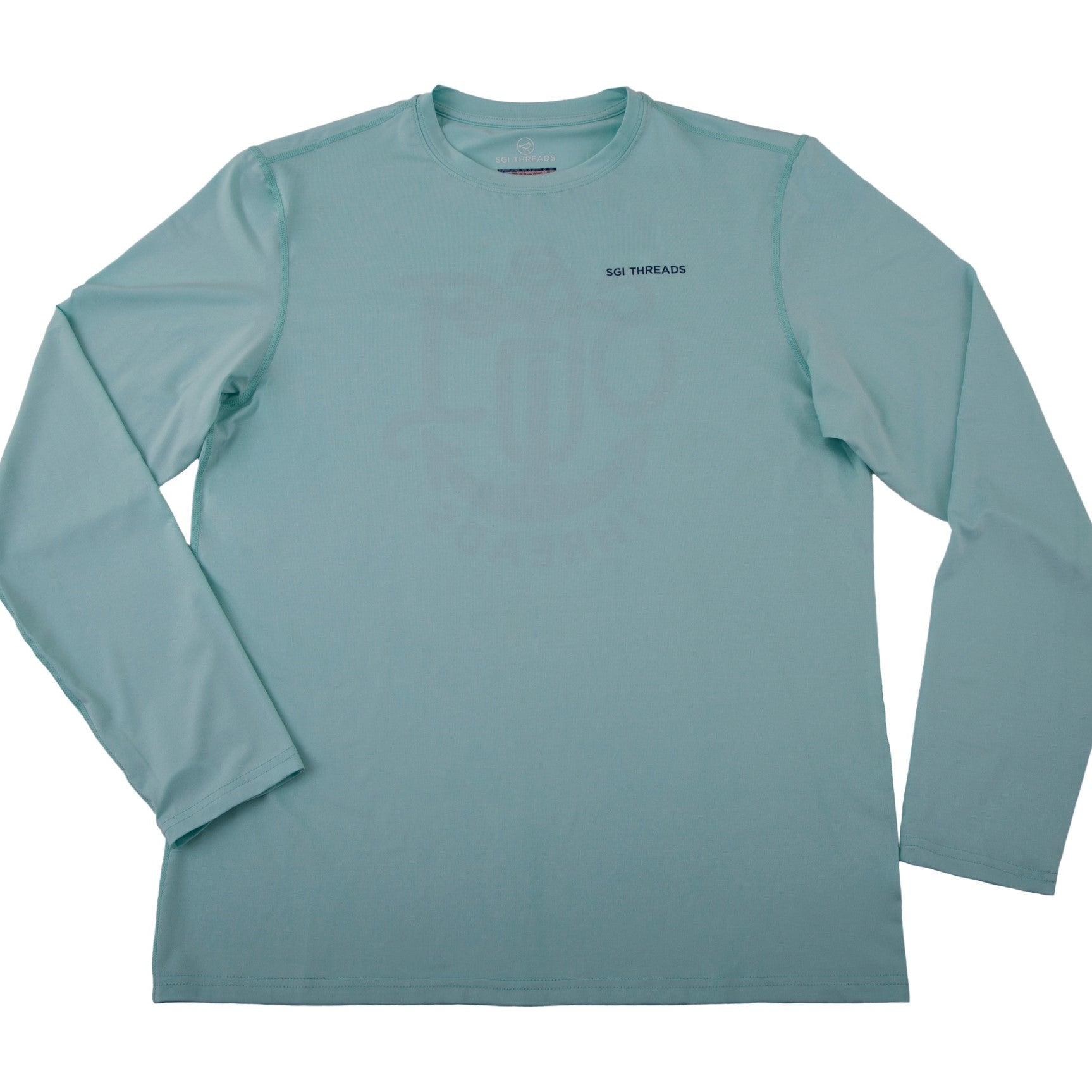 EVERYWHERE SAND TECH LONG-SLEEVE TEE TEAL ANCHOR