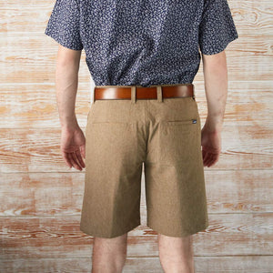 EVERYWHERE SAND TECH SHORTS HEATHER BROWN