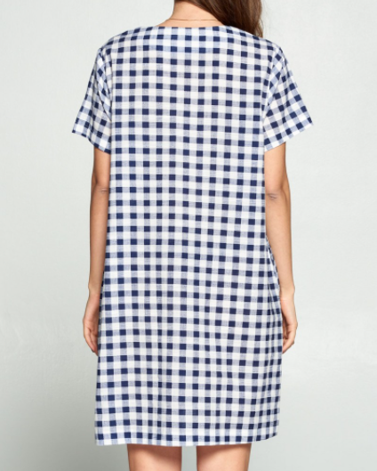 CALLIE'S GINGHAM SHIFT DRESS