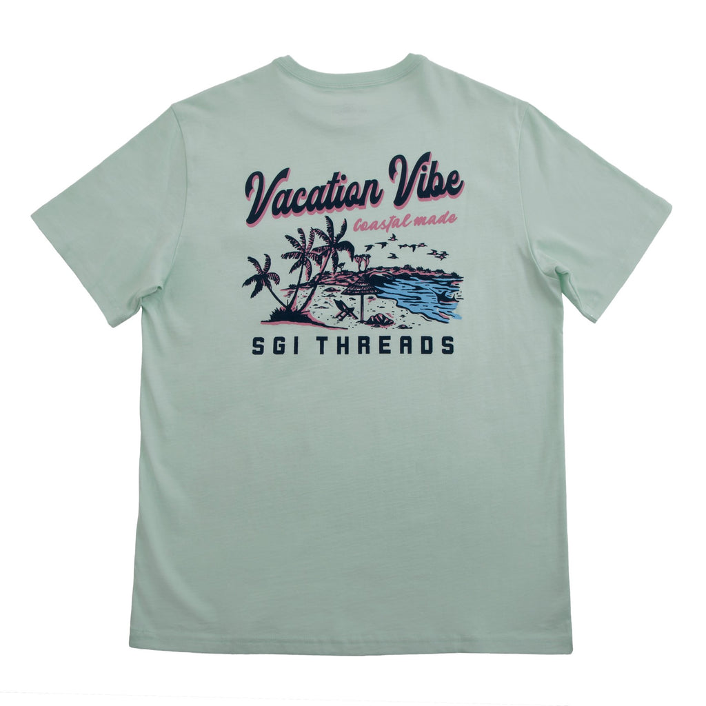 VACATION VIBE SHORT-SLEEVE TEE SEA FOAM