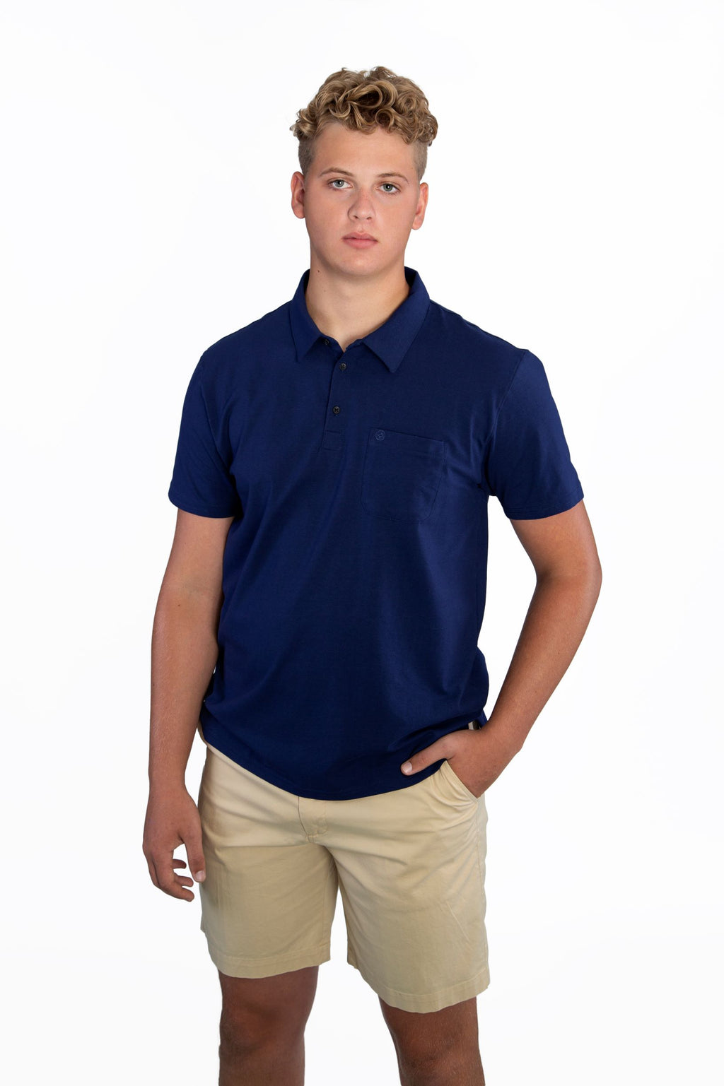 THE BEST-EVER POLO SOLID NAVY