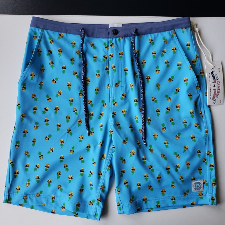 NEVER-BORED BOARDSHORTS PINEAPPLE