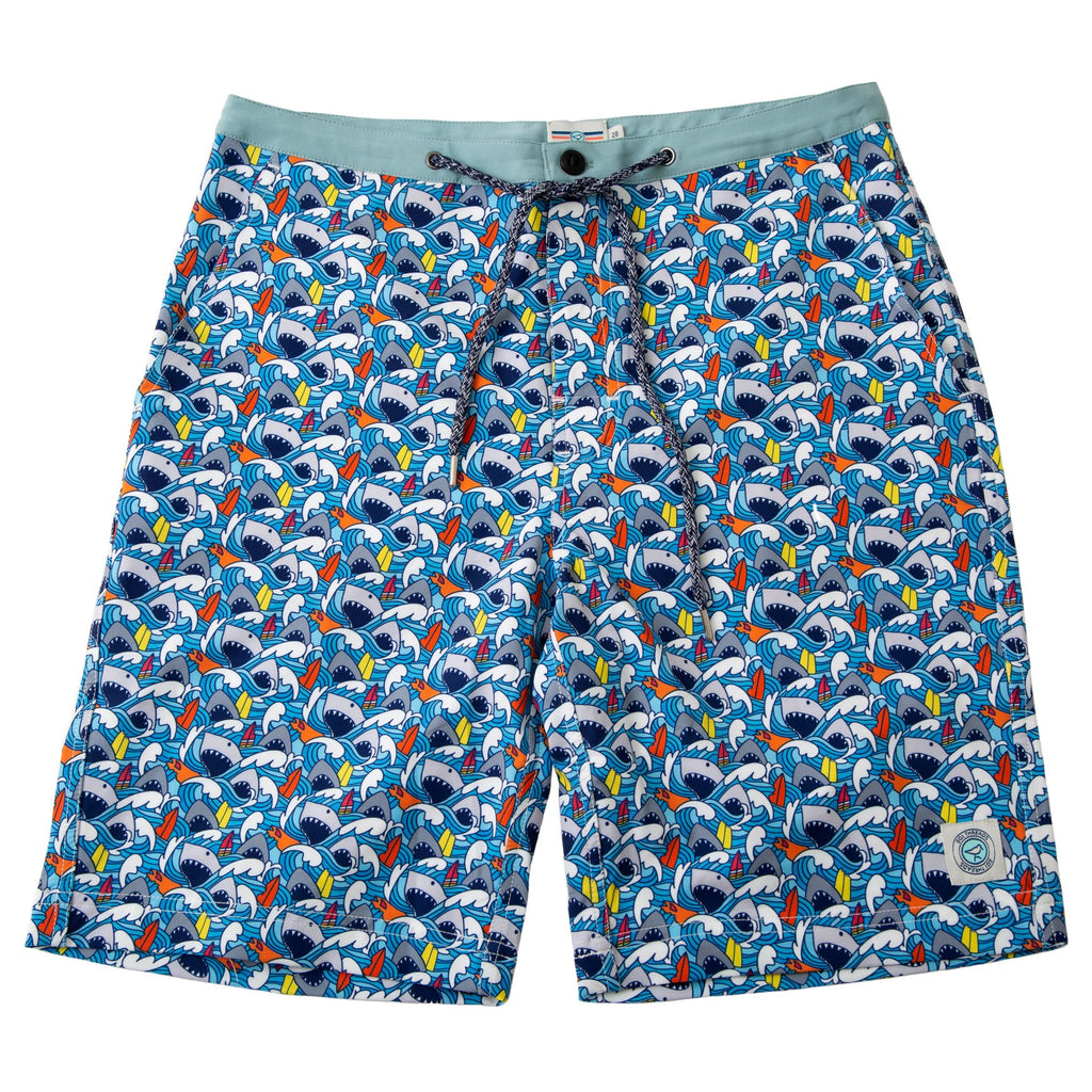 NEVER-BORED BOARDSHORTS SHARKS