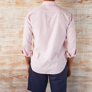 BUTTON-DOWN-FOR-ANYTHING GINGHAM LONG-SLEEVE SHIRT