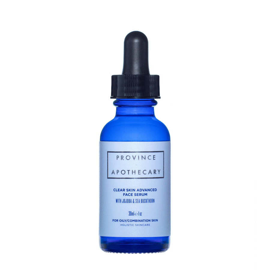Face serum for oily/combination skin in deep blue 30 ml bottle