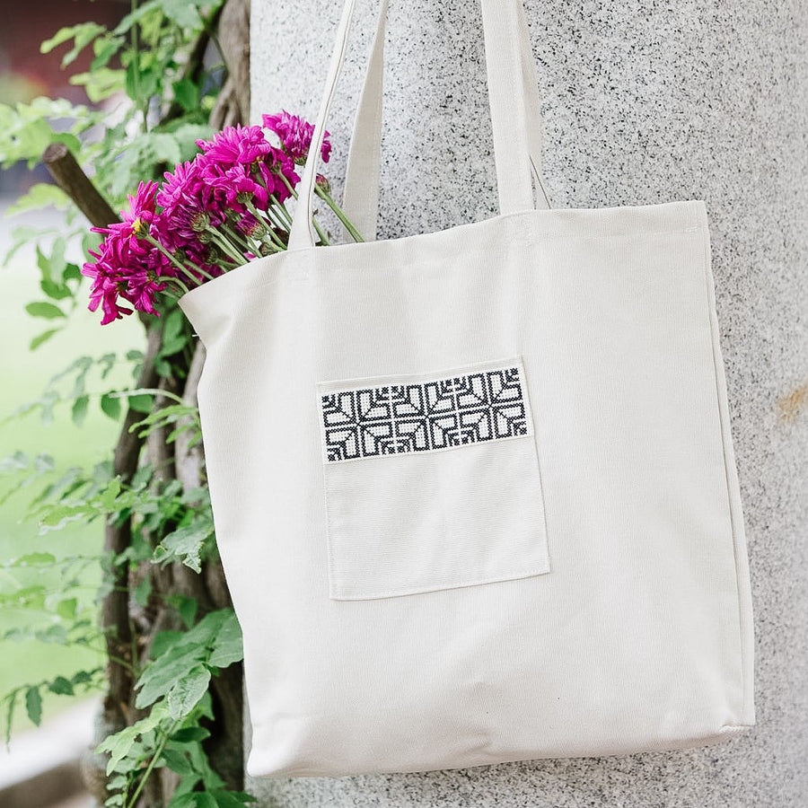 Fabric Market Tote Bag