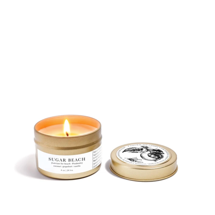 Sugar Beach Travel Organic Soy Candle