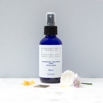120 ml Invigorating + Balancing toner with rose gernaium