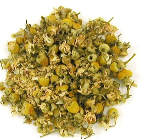 Heap of ethical, caffeine free calming chamomile tea