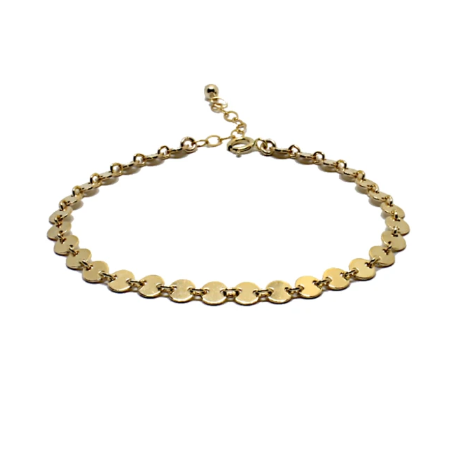 14kt gold filled coin bracelet
