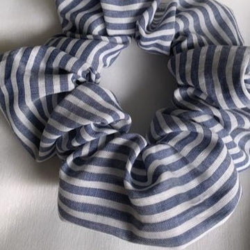Muskoka Blues Stripy Scrunchie