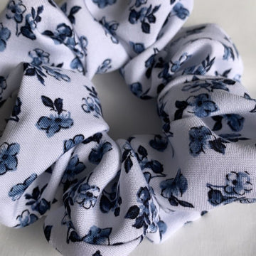 Muskoka Blues Floral Scrunchie