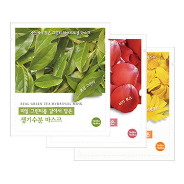 [Holika Holika] Real Hydrogel Mask (Green Tea, Rose, Calendula)