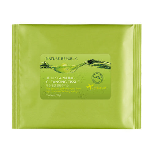 [NATURE REPUBLIC] Jeju Sparking Cleansing Tissue 15Sheets
