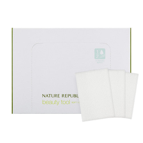[NATURE REPUBLIC] Beauty Tool 1/2 Cotton Puff