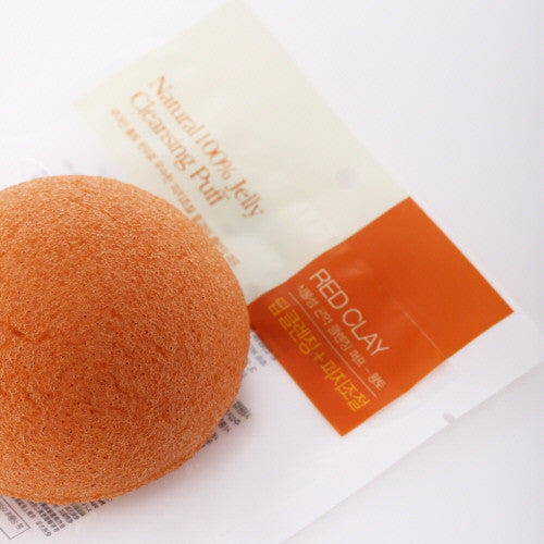[NATURE REPUBLIC] Konjac Cleansing Puff - Red Clay
