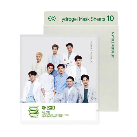 [NATURE REPUBLIC] Limited Exo X -  Real Nature Hydrogel Sheet Mask (10sheets)
