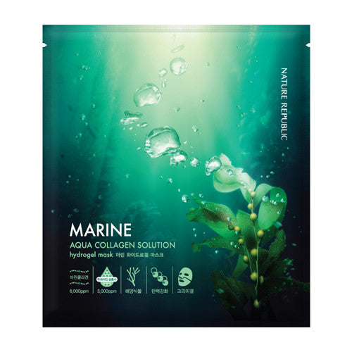 [Nature Republic] Aqua Collagen Solution Hydrogel Mask - Marin