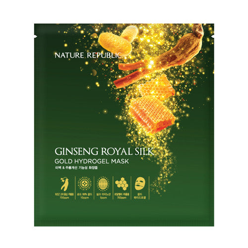 [NATURE REPUBLIC] Ginseng Royal Silk Gold Hydrogel Mask 10P