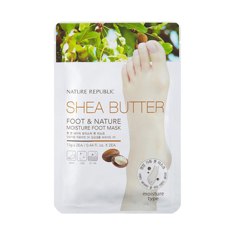 [NATURE REPUBLIC] Shea Butter Foot & Nature Moisture Foot Mask