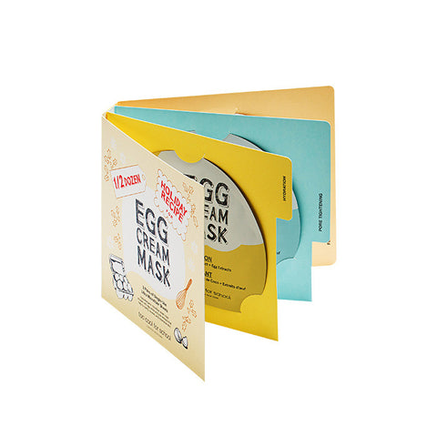 [too cool for school] 1/2 DOZEN EGG CREAM MASK SET