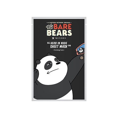 [MISSHA] Herb in Nude Sheet Mask - Firming (We Bare Bears)