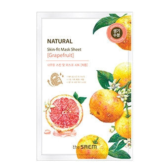 [the SAEM] Natural Skin Fit Mask Sheet [Grapefruit]