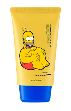 [THE FACE SHOP] Natural Sun Eco No Shine Hydrating Sun Cream (The Simpsons)