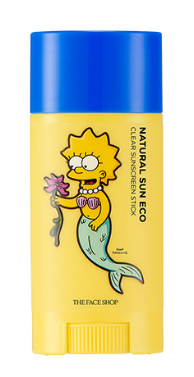 [THE FACE SHOP] Natural Sun Eco Clear Sunscreen Stick (The Simpsons)