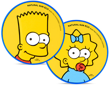 [THE FACE SHOP] Natural Sun Eco Baby Sun Cushion (The Simpsons)
